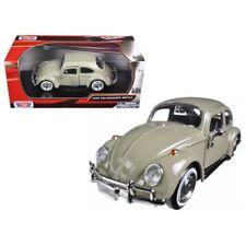 1966 Volkswagen Beetle Beige 1/24 Diecast Model Car by Motormax