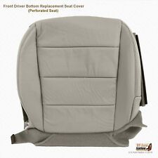 For 2007 2008 Acura TL Type S Driver Bottom Gray Perforated Leather Seat Cover
