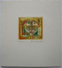Akkitham Narayaman (1939) Sonne Orig. Farbradierung 1970 signiert