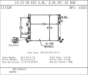 Radiator TYC 13351