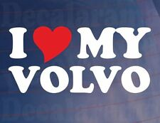I LOVE/HEART MY VOLVO Novelty Car/Truck/Window/Bumper Vinyl Sticker/Decal