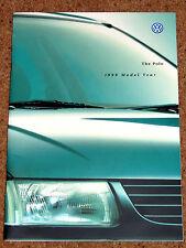 1999 VW POLO Sales Brochure - 1.4 16V, GL CL L Colours Accessories - Excellent