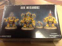 40K Warhammer Ork Meganobz NIB Sealed