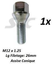 Peugeot partner i 20 boulons de roues m12 x 1,25 vis kegelbund 28 mm