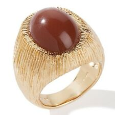 NEW CHOCOLATE MOONSTONE VERMEIL CABOCHON RING SIZE 8 HSN $159.90 SOLDOUT