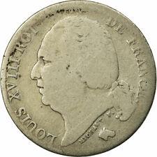 [#456563] Monnaie, France, Louis XVIII, Franc, 1822, Paris, B+, Argent
