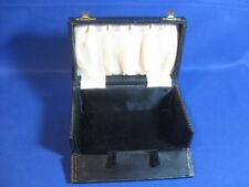 Antique Display Black Leather Jewellery Box