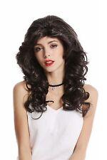 perruque Femme Diva Star Noir gris mélangé lang ondulé volumineux perruque