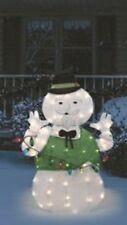 Sam The Snowman Outdoor Lighted Christmas Display Rudolph Frosty Rudolph