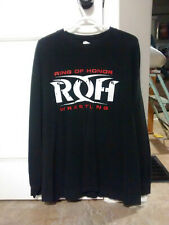 RARE OUT OF PRINT ROH RING OF HONOR XL LONGSLEEVE SHIRT! AEW WWE MLW ECW AWA