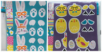 EASTER EGG KIT STICKERS HAVE YOURSELF ARTY EASTER INCLUDE 30 STICKERS 6 CUT OUTS