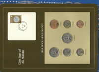 Coin Sets of All Nations Guernsey Brown w/card 1979-1983 UNC £1 1981 Lily 13AP83