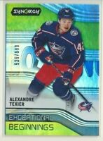 2019-20 Synergy Exceptional Beginnings E-6 Alexandre Texier /999 Blue Jackets