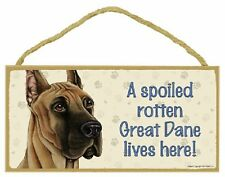 Great Dane Wood Dog Sign Wall Plaque 5 x 10 for Dog Lovers Gift House Leash New