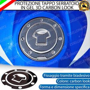ADESIVO CARBON LOOK 3D PROTEZIONE TAPPO PER HONDA HORNET 600 S (2002-2004)