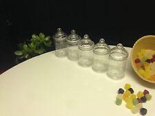 6 X 380ML EMPTY PLASTIC VICTORIAN SWEET CANDY JARS