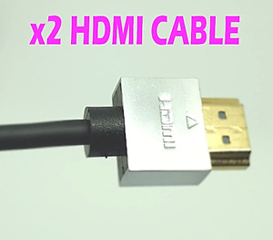 PREMIUM ULTRA HD HDMI CABLE HIGH SPEED 4K 2160p 3D LEAD x2 cables multi