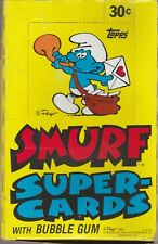 1982 Topps Smurf Unopened Box 36 Mint Test Cello Packs