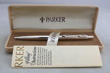 More details for vintage (c1978) parker international jotter barley silver plated ballpoint pen