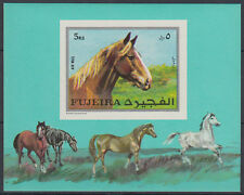 Fujeira 1970 ** bl.33 B CAVALLI HORSES ANIMALI ANIMALS fauna
