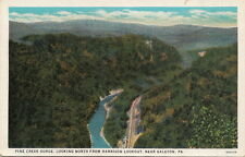 Postcard Pine Creek Gorge Looking North Harrison Lookout Galeton PA