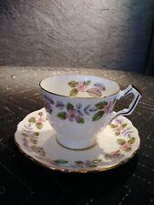 "AYNSLEY ENGLAND  SET TEA CUP&SAUCER FLORAL DECOR ""APRIL ROSE ""PATTERN"
