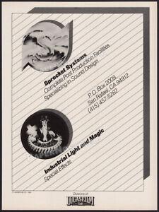 LUCASFILM LTD. - Industrial Light and Magic__Orig. 1984 Trade Print AD / poster