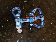 Red Dingo Australia Large Dog Harness Reflective Med Blue Lots o Bones Pattern