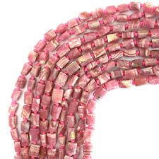 "6-8mm matte faceted rhodochrosite nugget beads 15.5"" strand"