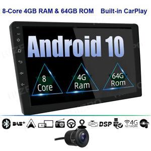 "10.1"" Android 10 4GB+64GB Autoradio GPS Navi 2 DIN DAB Bluetooth 5.0 USB 4G LTE"
