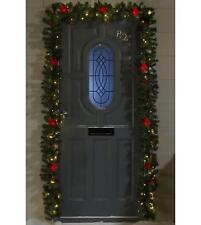 16ft Light Up Pre Lit LED Outdoor Door Garland Christmas Decoration with remote