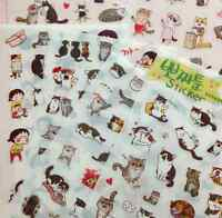 6 Sheets/SET Portable Cat Album Diary Calendar Sticker Label Scrapbooking Craft