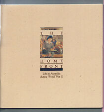 AUSTRALIA POST 1991 Book - THE HOME FRONT - C/w Mint Stamps & Postcards - MNH