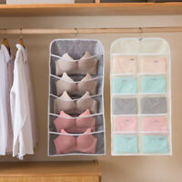 Pockets Bra Underwear Socks Storage Bag Double Sided Door Hanging Organiser D