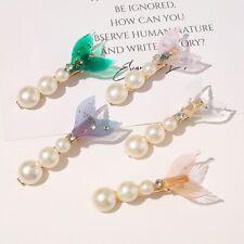 Fashion Women Pearl Bling Hair Clip Slide Barrette Bobby Hairpin Accessories 7CM