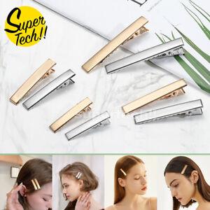 UP 100x DIY Hair Clips Blank Alligator Silver Gold Metal Accessories Kids Women