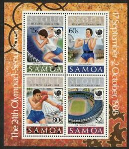 SAMOA, 1988 OLYMPIC GAMES MINISHEET MNH