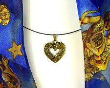 Pferdekopf im Herz, für alle Pferdefreunde, Antik Bronze; Schmuck Kette Anhänger