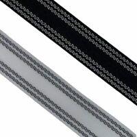 Petersham Ribbon 25 - 38mm  / Black or White / 1 - 20 Metres + Free Postage