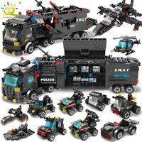 SWAT Police Station truck Building Blocks lego City machine Children Toy Car