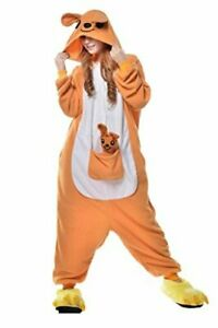 Unisex Adult Animal Kangaroo Pajamas Halloween, Brown, Size Large yZYl