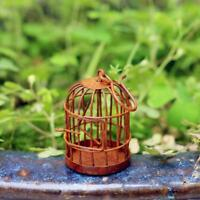 1:12 Scale Miniature Metal Bird Cage With Bird Birdcage for Dollhouse Decor
