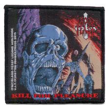 BLOOD FEAST woven patch KILL FOR PLEASURE Aufnäher ♫ U.S. Death Thrash Metal ♫