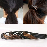 Women Elastic Rope Hair Tie Ponytail Holder Wig Hairpiece Head Band Hairband New