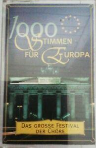 1000 Stimmen für Europa Das grosse Festival der Chöre MC 2 (1995) Guter Zustand