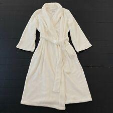 OSCAR DE LA RENTA White Plush Bathrobe Robe Dressing Gown XL