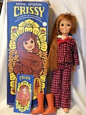 Vintage Ideal Movin' Groovin' Crissy Doll in Original Box w/ Boots Book