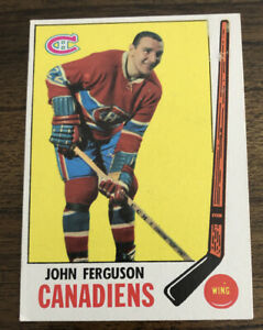 1969-70 Topps Hockey John Ferguson #7 - Montreal Canadiens