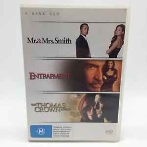 Mr & Mrs Smith : Entrapment : Thomas Crown Affair (DVD, 2007) R4 With Brad Pitt