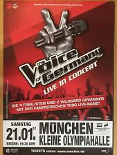 THE VOICE OF GERMANY 2017 MÜ.  ++ orig.Concert Poster - Konzert Plakat A1 xx